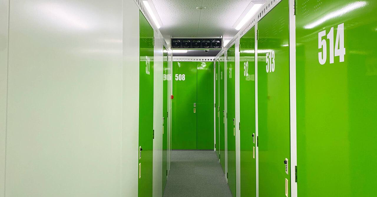 トランクルームの空調設備