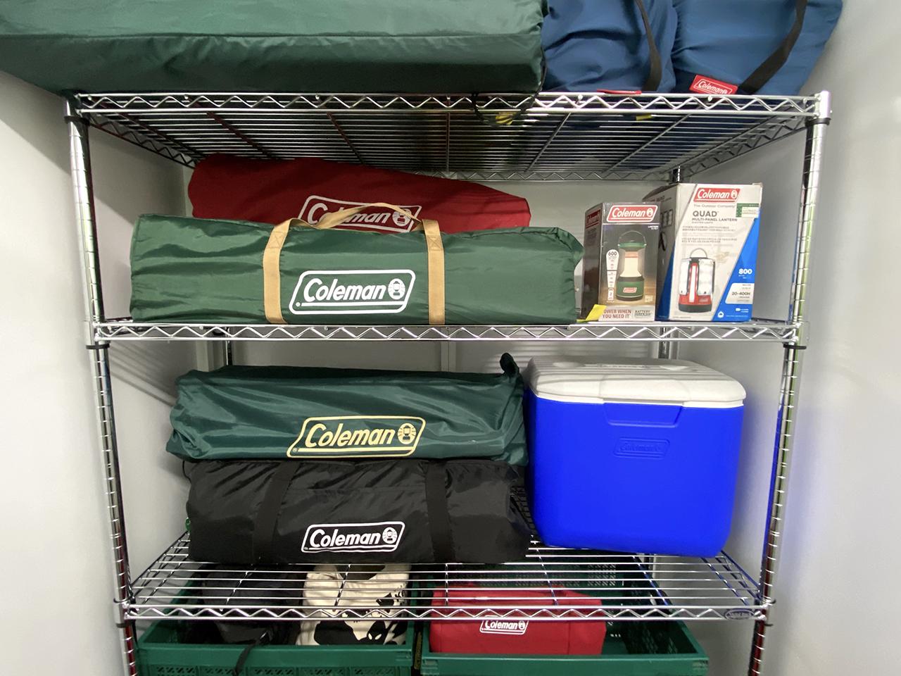 キーピットのキャンプ道具収納例