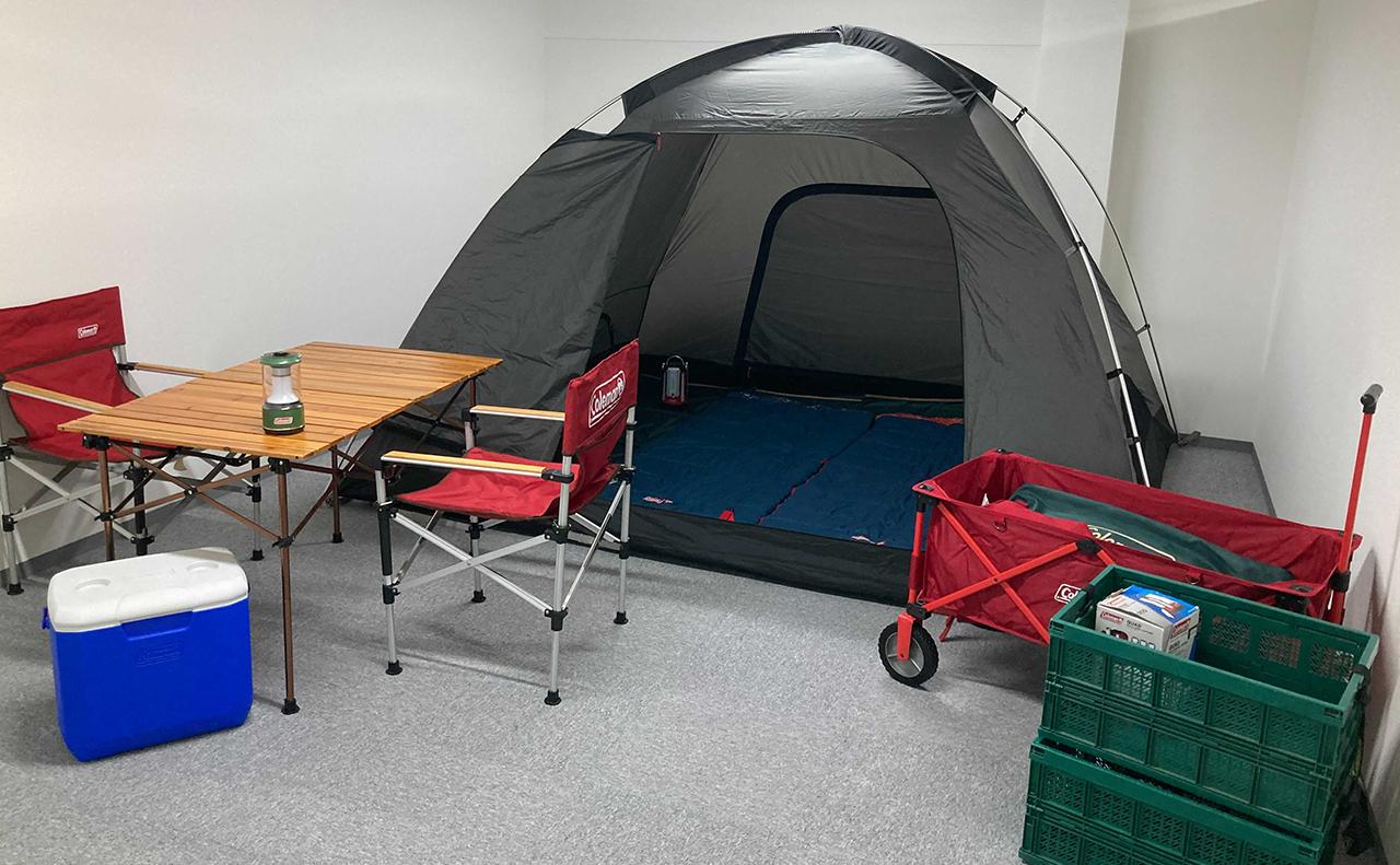 キャンプ道具の設営イメージ