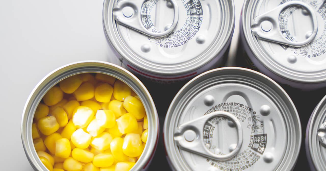 備蓄する食料品の保管場所