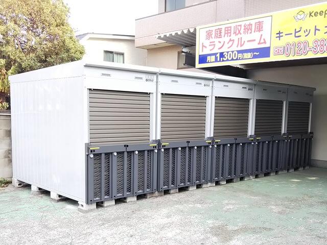 「キーピット江戸川北小岩」屋外のバイクボックス