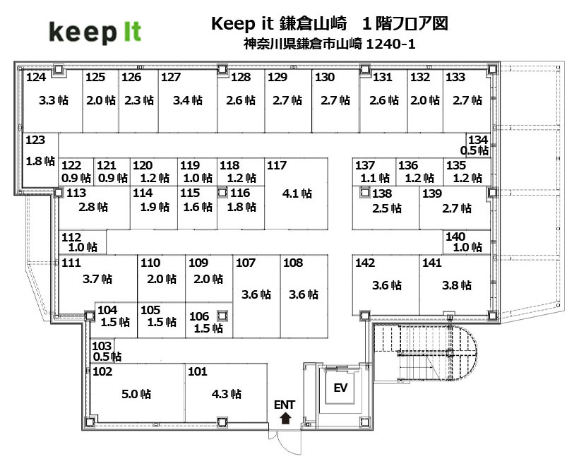キーピット鎌倉山崎 1F フロア図