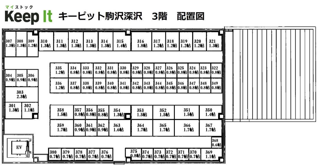 キーピット駒沢深沢 3F フロア図